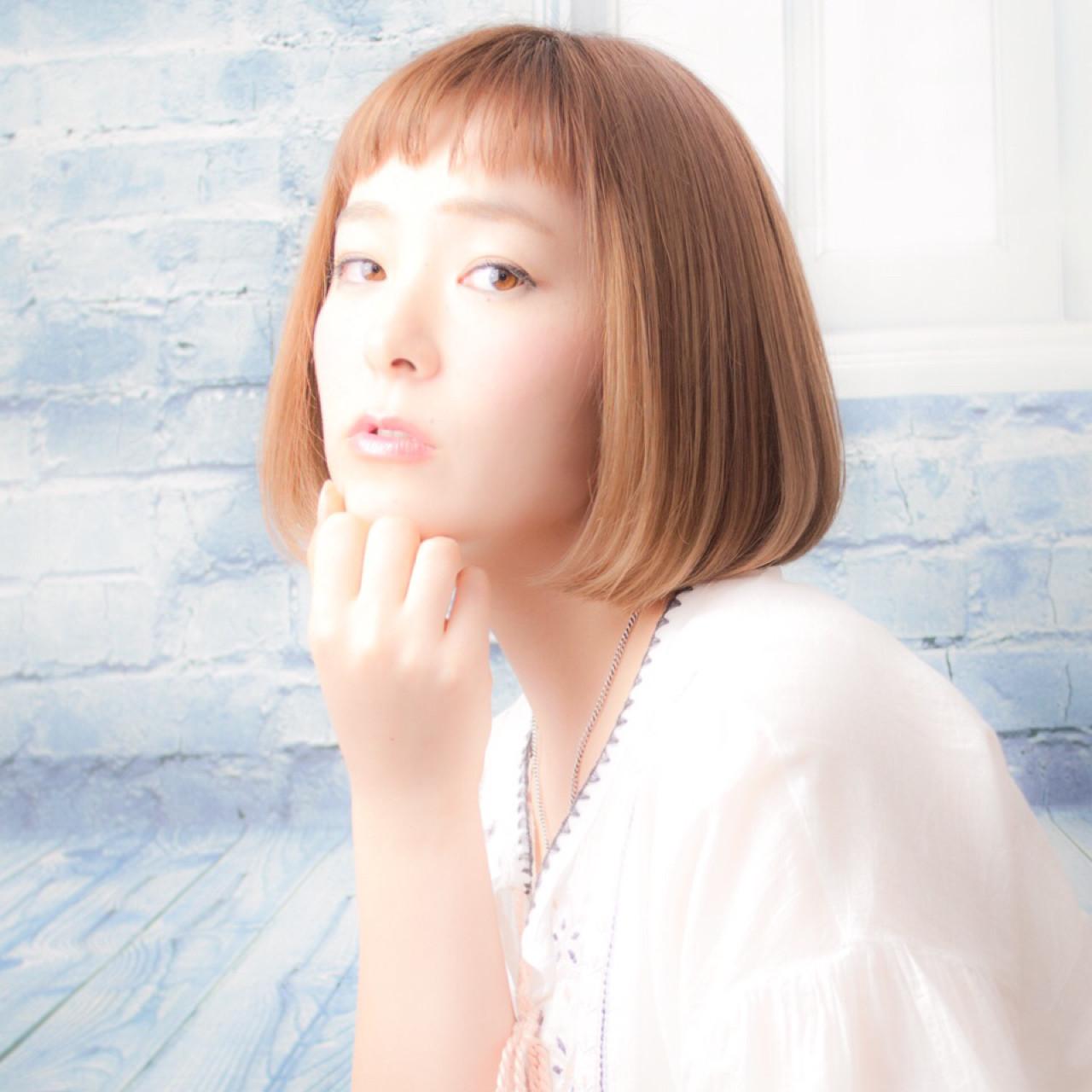 可愛いからハンサムまで♡ワンレン×ショートボブの髪型スタイル antiquepomme/yokohama