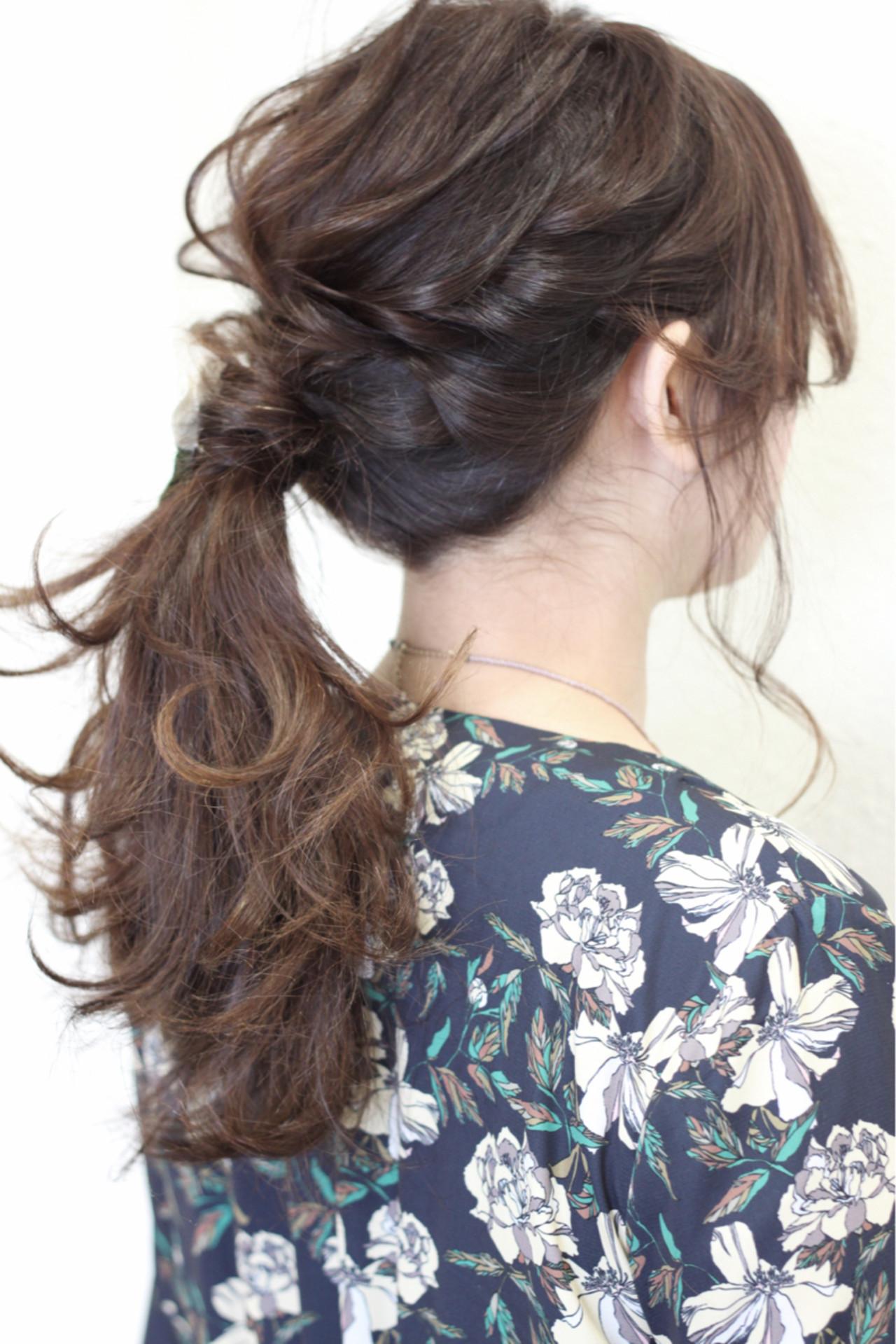結婚式 ナチュラル ヘアアレンジ 簡単ヘアアレンジ ヘアスタイルや髪型の写真・画像