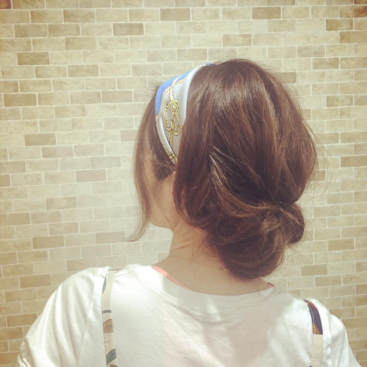ヘアアレンジ ヘアアクセ デート ギブソンタック ヘアスタイルや髪型の写真・画像