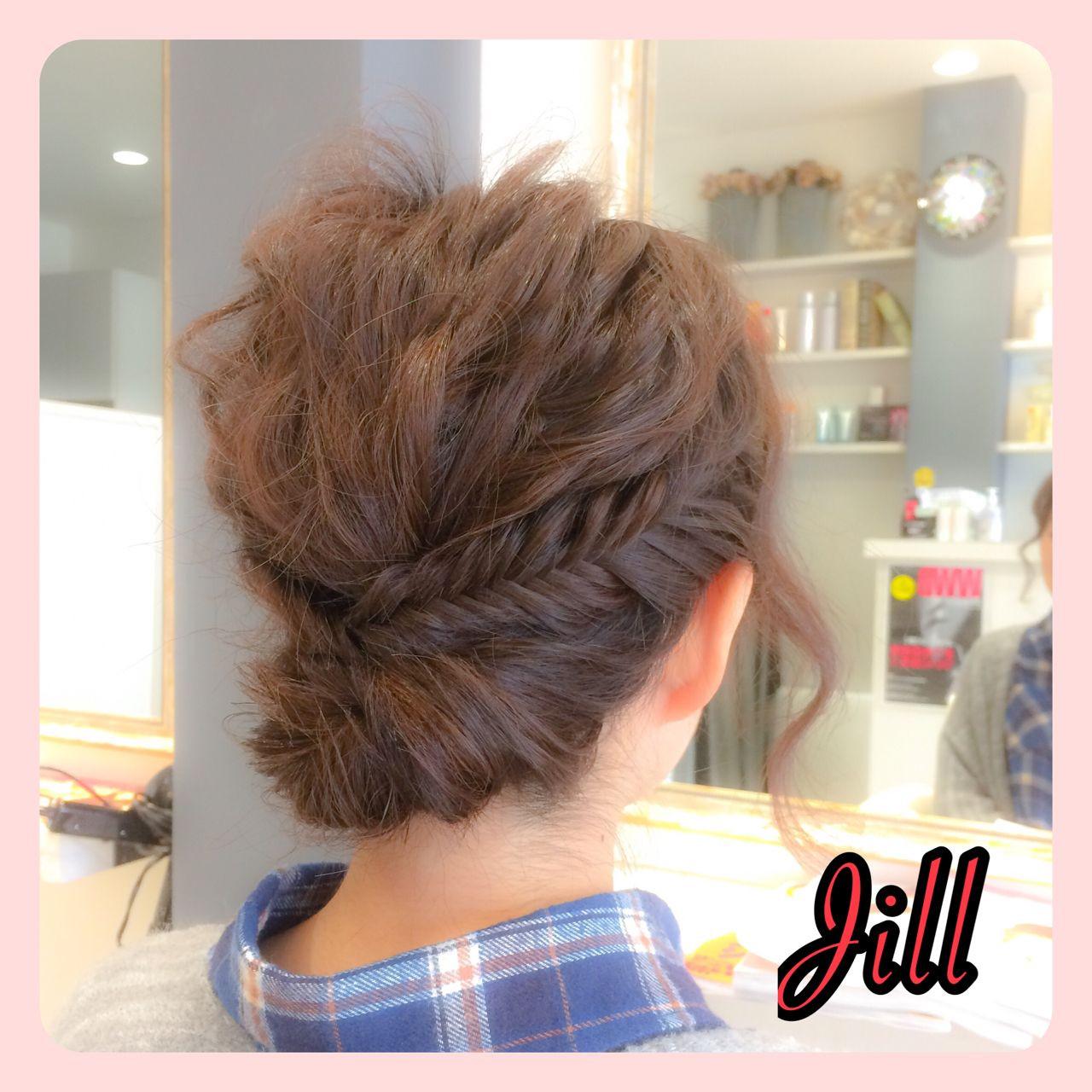 ボブ ヘアアレンジ 簡単ヘアアレンジ 波ウェーブ ヘアスタイルや髪型の写真・画像