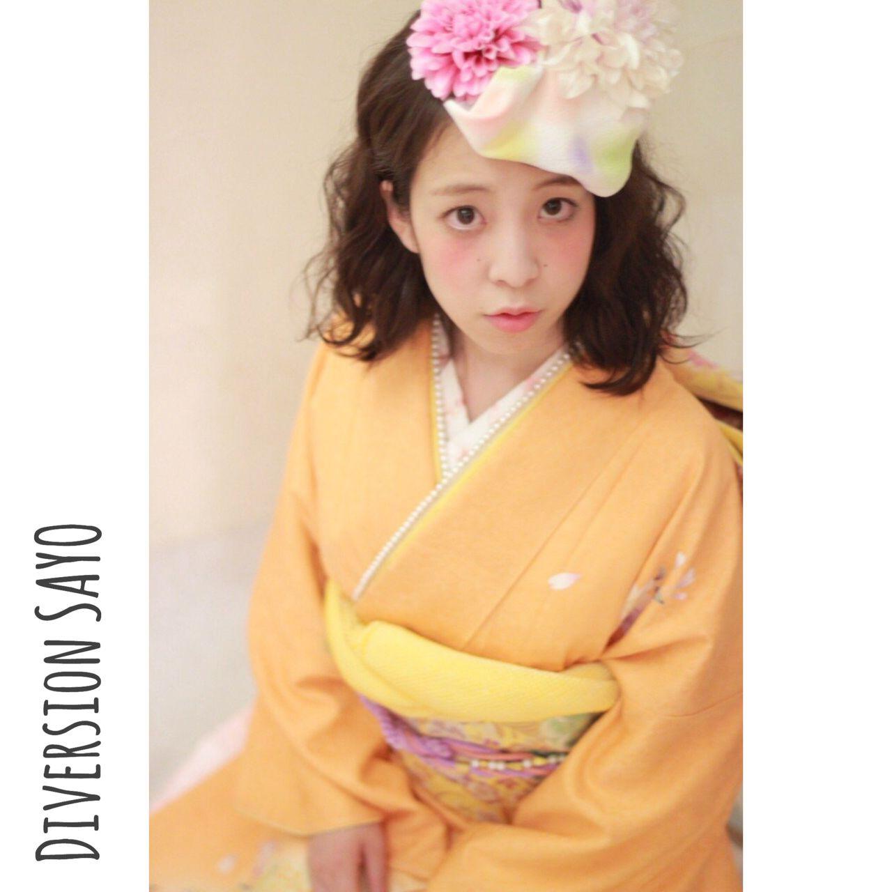 【髪型カタログ】着物に似合うショートのおすすめ髪型アレンジ特集 和田 早代