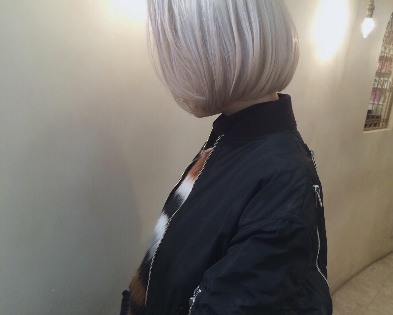 ブリーチ ホワイト 外国人風 ストリート ヘアスタイルや髪型の写真・画像