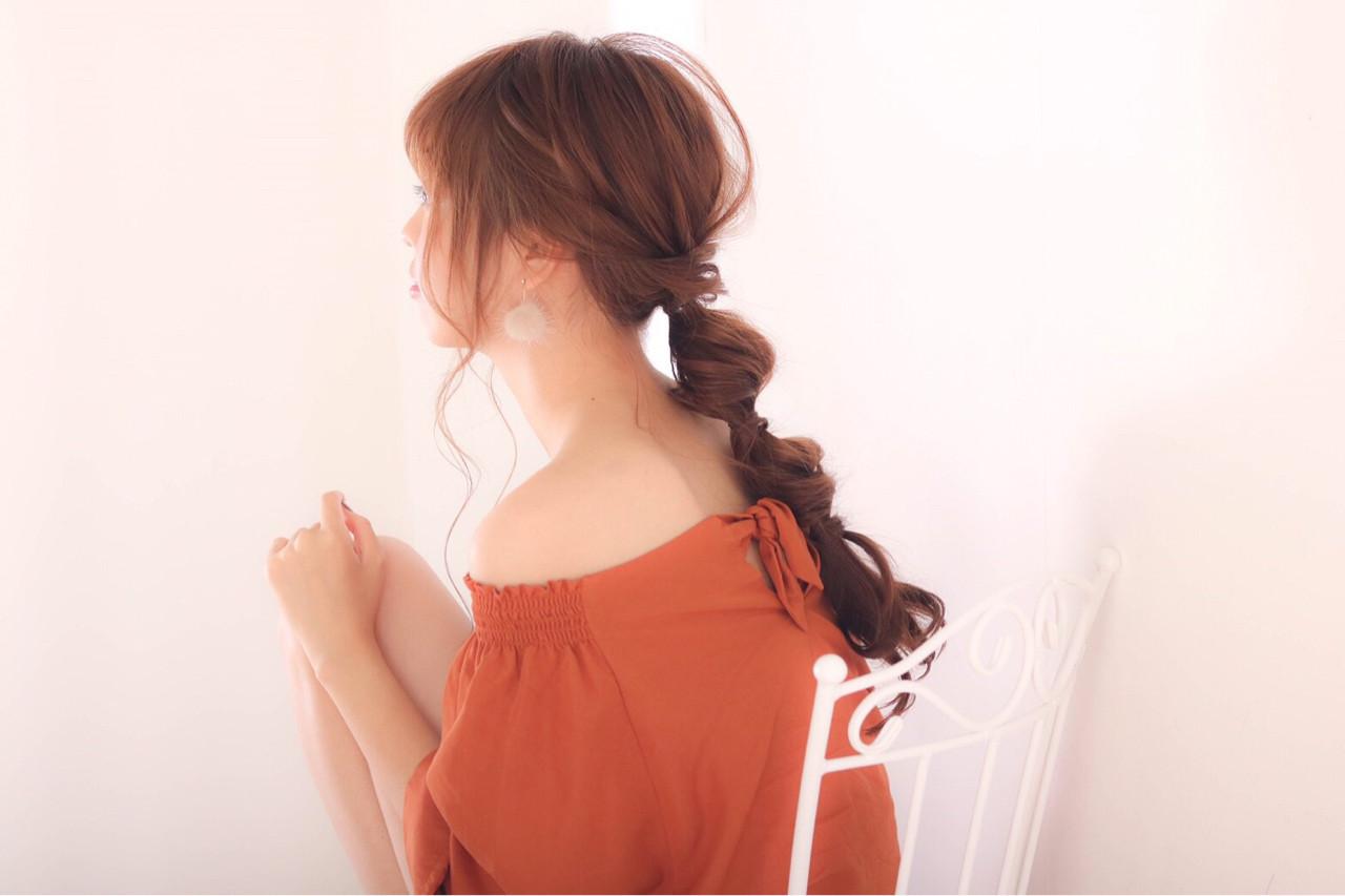 大人かわいい ヘアアレンジ ロング 大人女子 ヘアスタイルや髪型の写真・画像