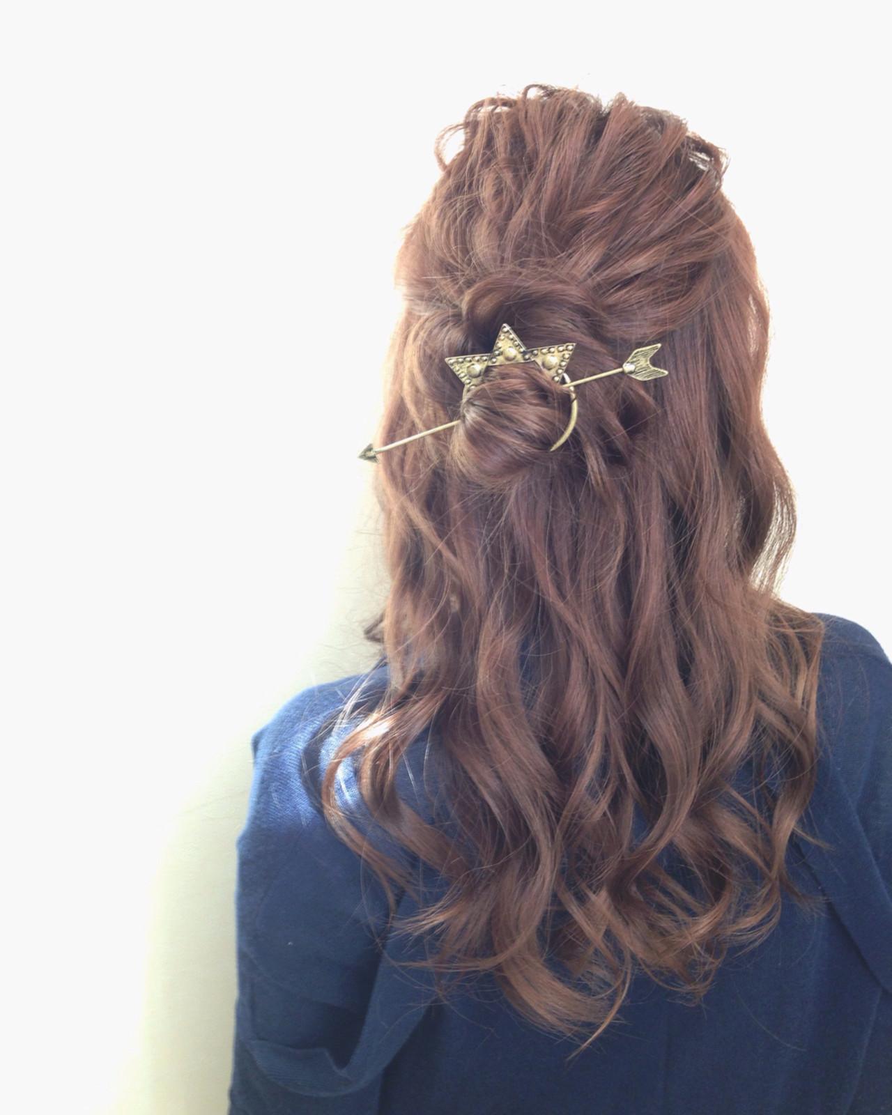 お団子 ヘアアレンジ ストリート 愛され ヘアスタイルや髪型の写真・画像
