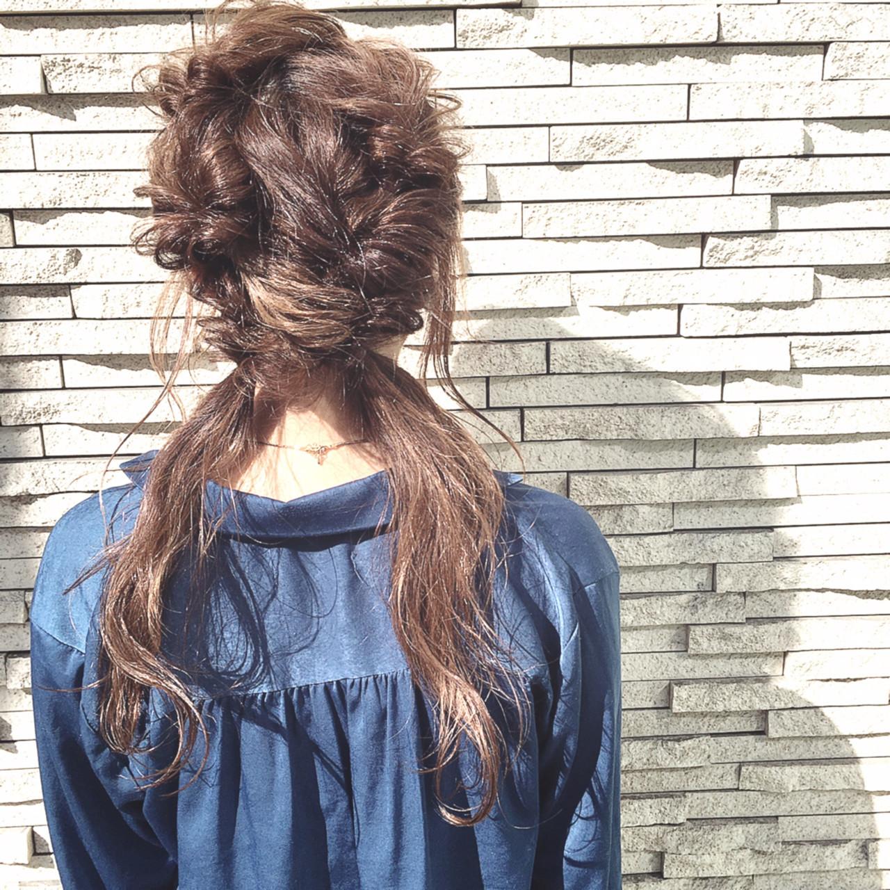 ツインテール 簡単ヘアアレンジ くるりんぱ ポニーテール ヘアスタイルや髪型の写真・画像