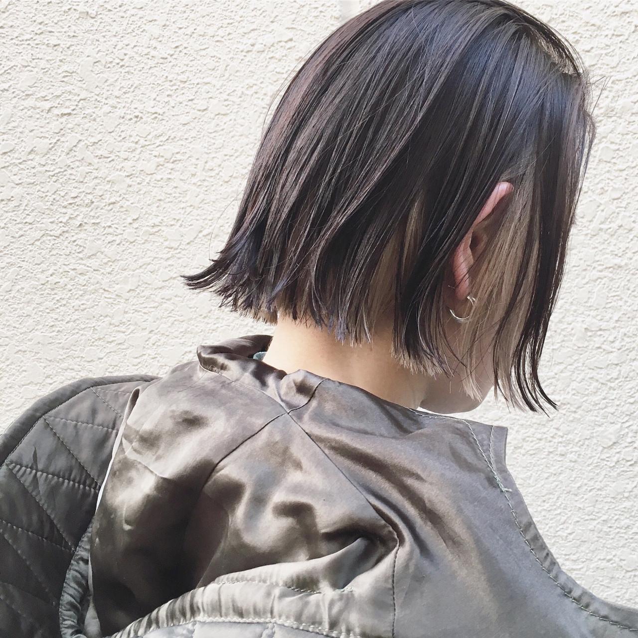 可愛いからハンサムまで♡ワンレン×ショートボブの髪型スタイル 篠崎 佑介