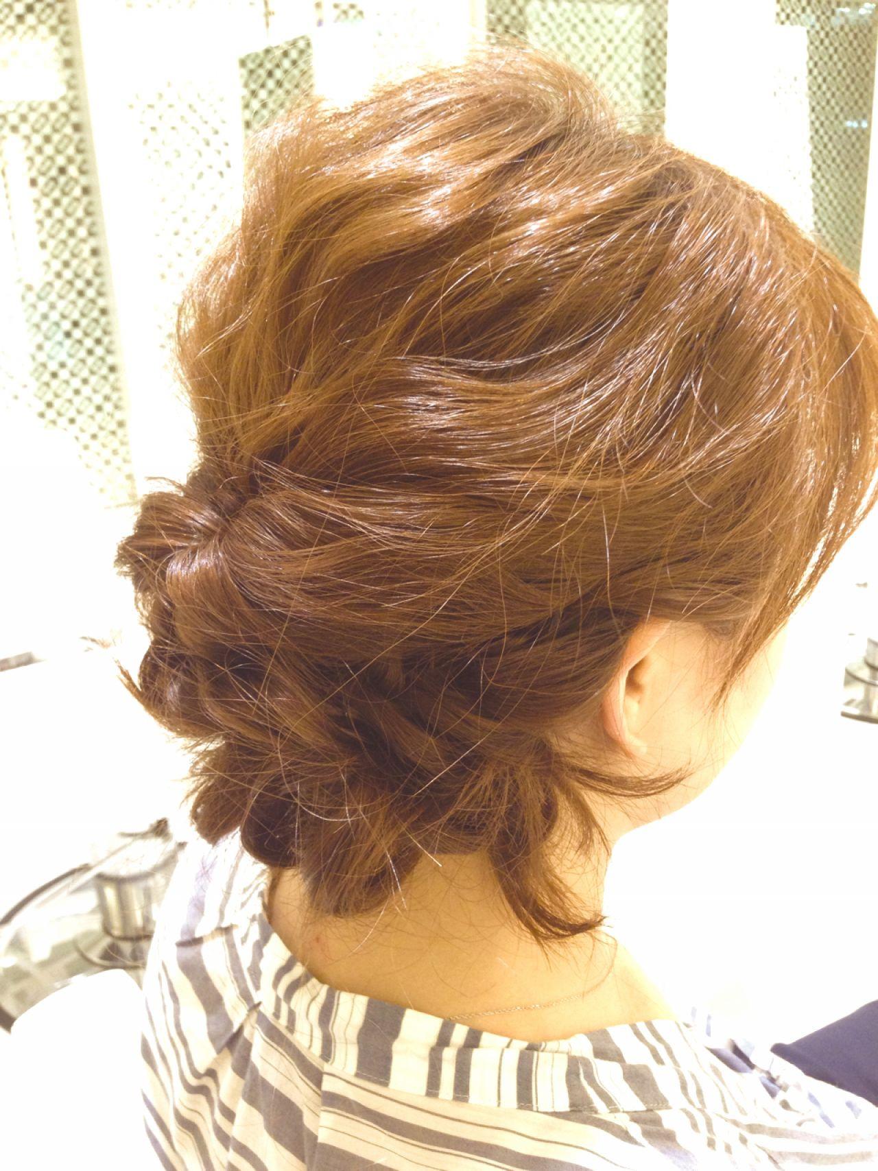 ヘアアレンジ ナチュラル ルーズ ゆるふわ ヘアスタイルや髪型の写真・画像