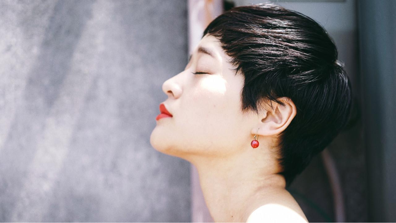 黒髪 ベリーショート 似合わせ マッシュ ヘアスタイルや髪型の写真・画像