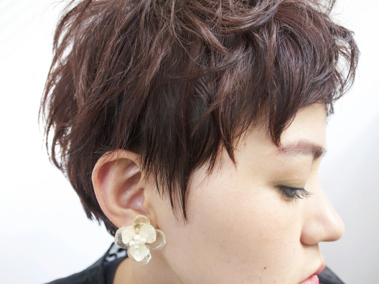 前髪あり ガーリー 秋 外国人風 ヘアスタイルや髪型の写真・画像