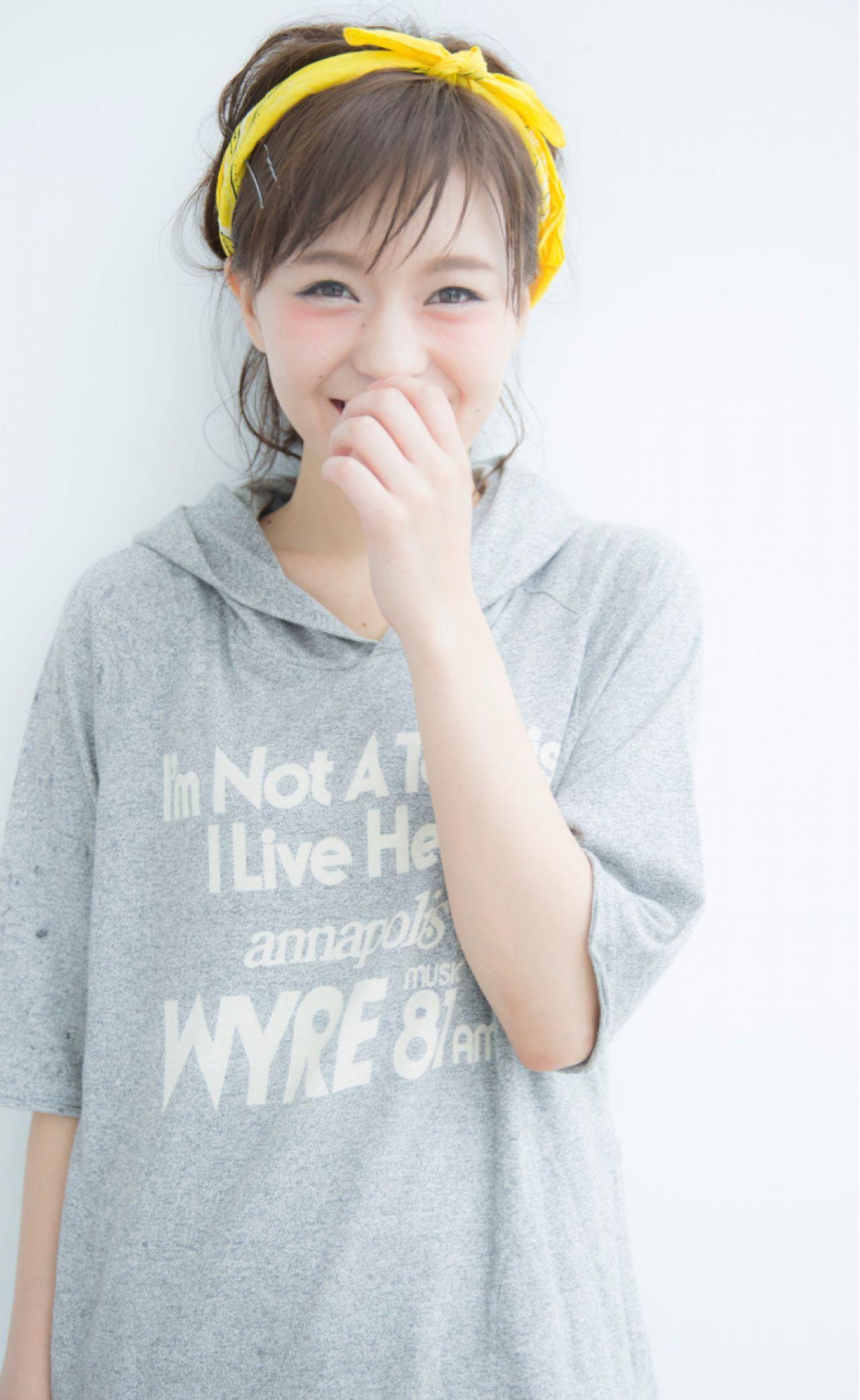 バンダナを使った髪型で可愛さUP♡とっておきアレンジ特集 NARUOKA
