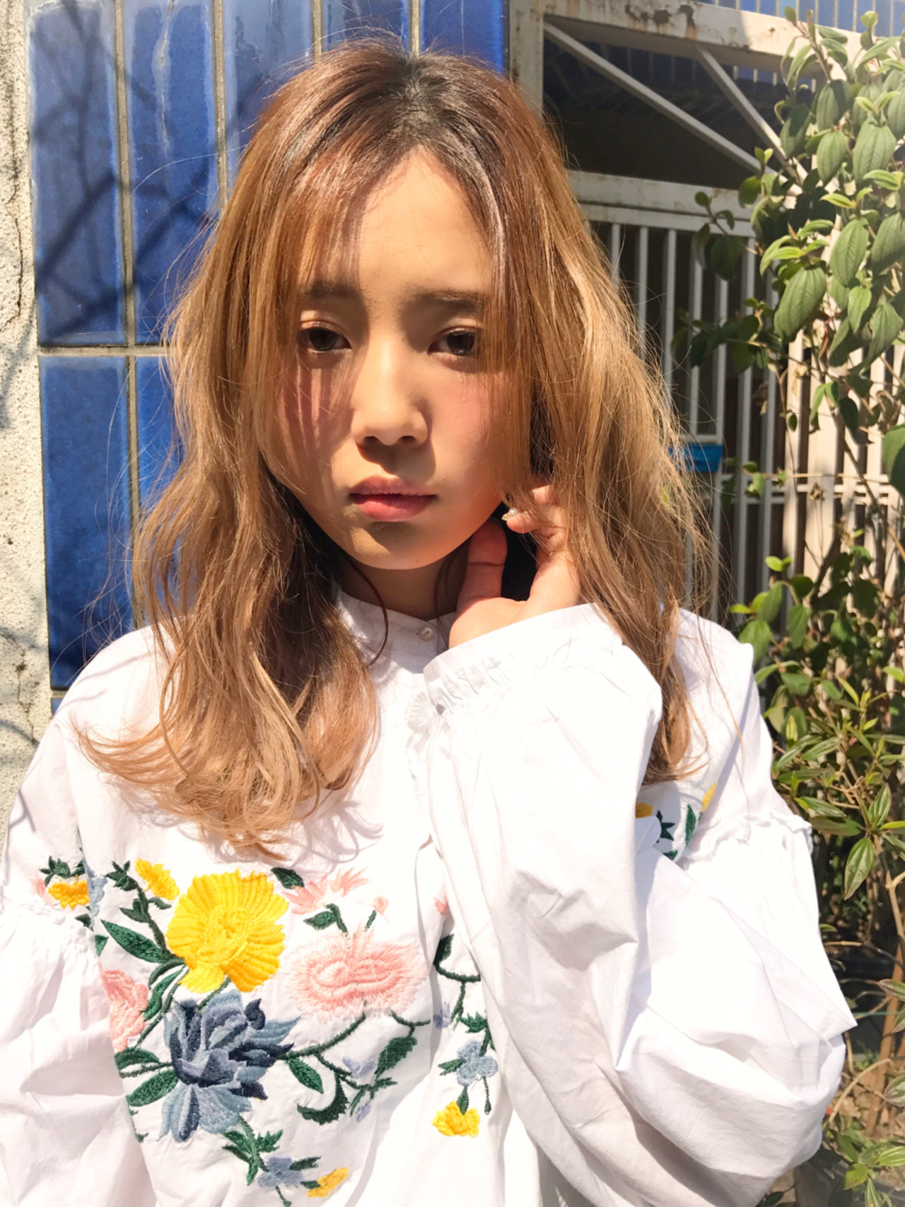 ハイライト パーマ フェミニン 外国人風 ヘアスタイルや髪型の写真・画像