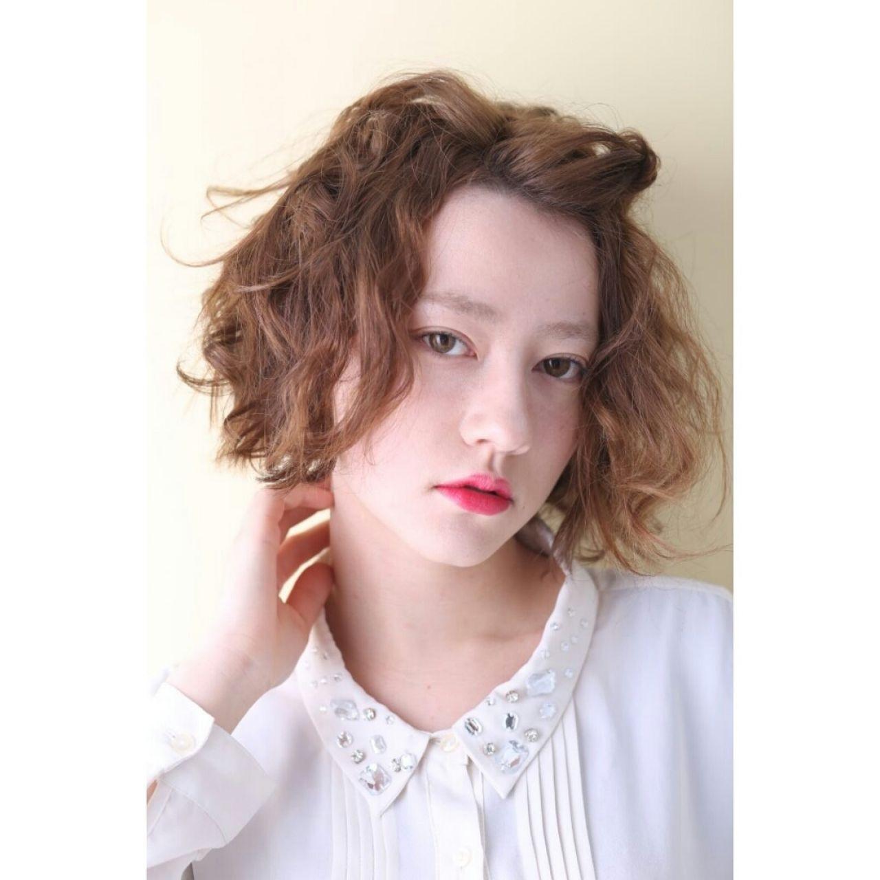 ゆるふわ 愛され モテ髪 波ウェーブ ヘアスタイルや髪型の写真・画像