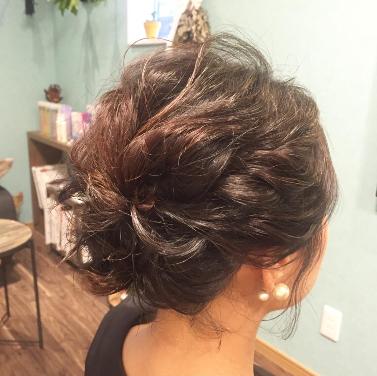 ショート ヘアアレンジ 結婚式 ヘアスタイルや髪型の写真・画像