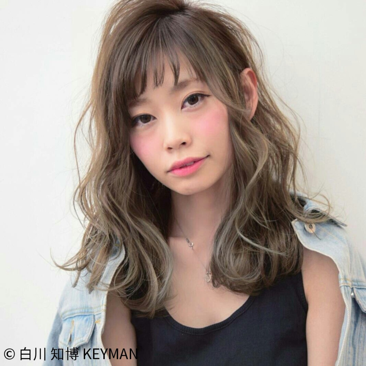 ニュアンス 大人女子 ストリート 小顔 ヘアスタイルや髪型の写真・画像