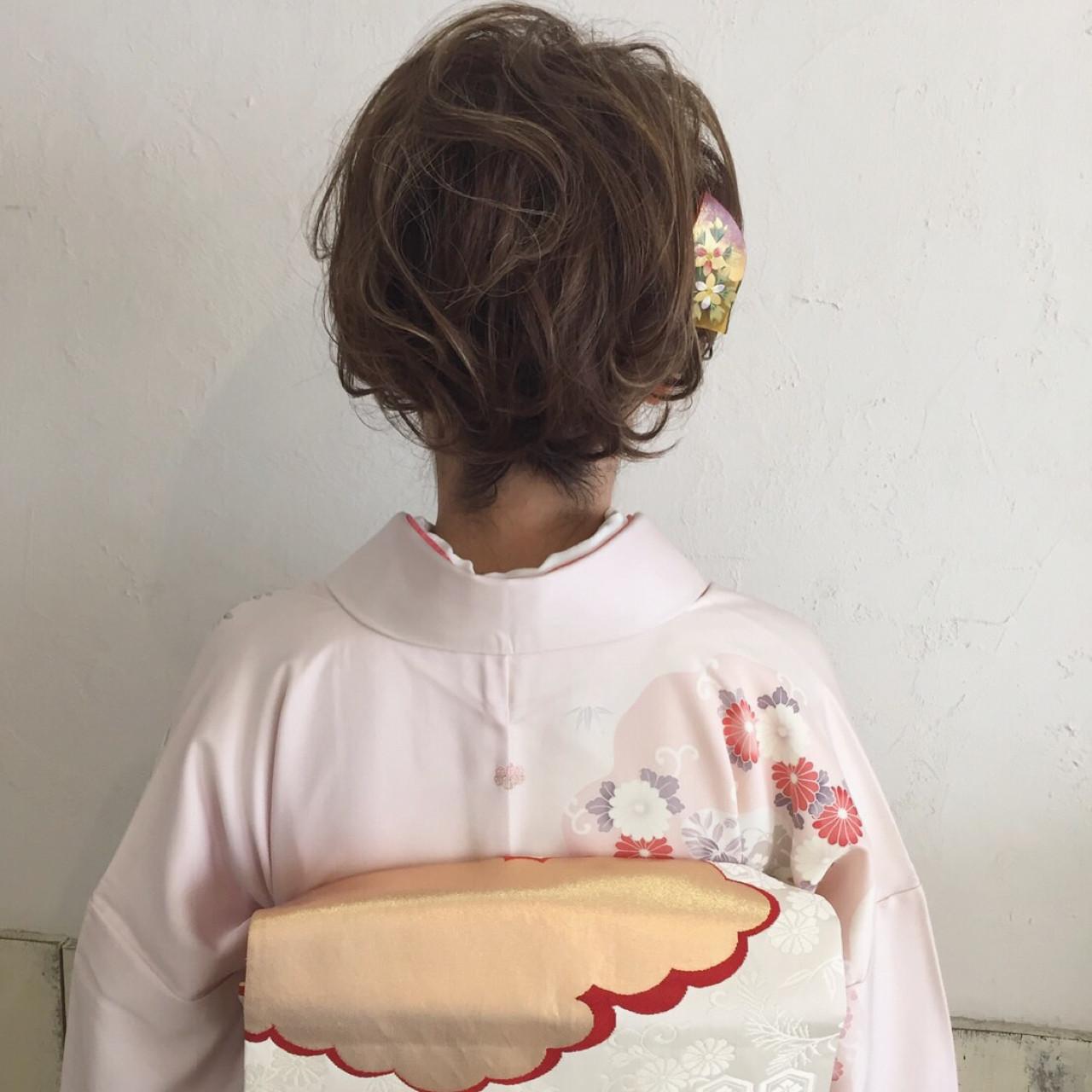 【髪型カタログ】着物に似合うショートのおすすめ髪型アレンジ特集 ange maco