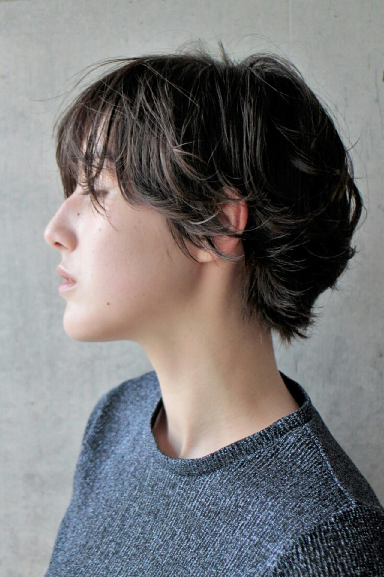 リラックス グレージュ 外国人風 ハイライト ヘアスタイルや髪型の写真・画像