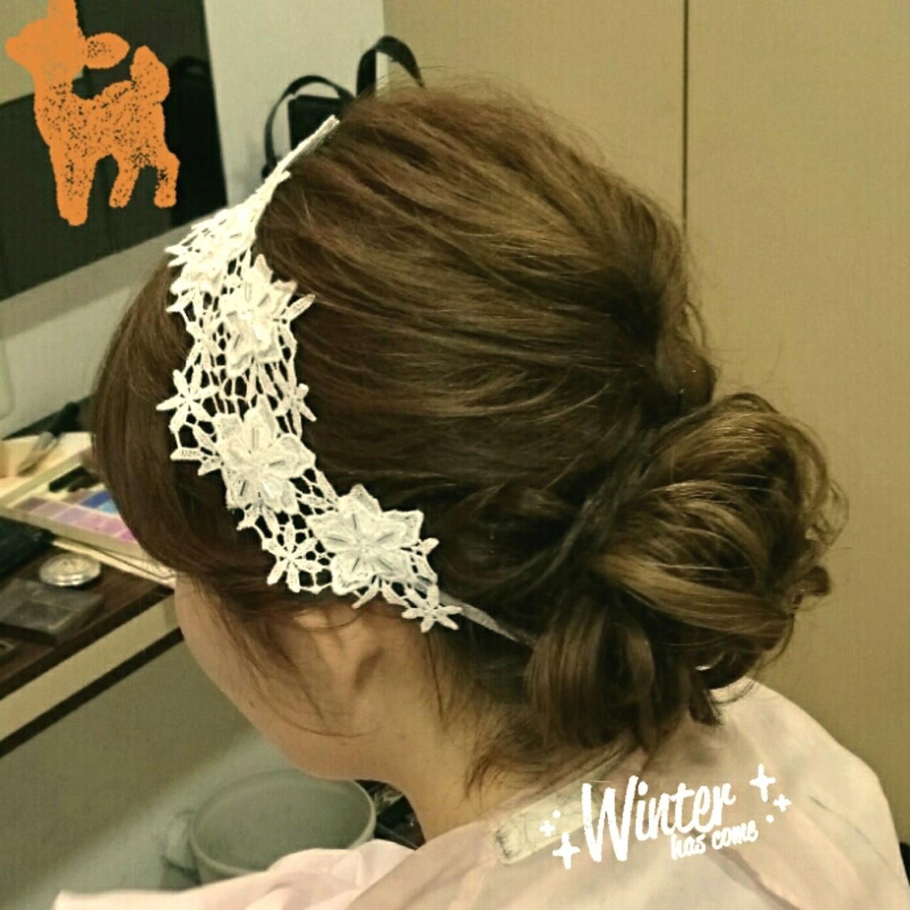 ブライダル ショート ヘアアレンジ 結婚式 ヘアスタイルや髪型の写真・画像