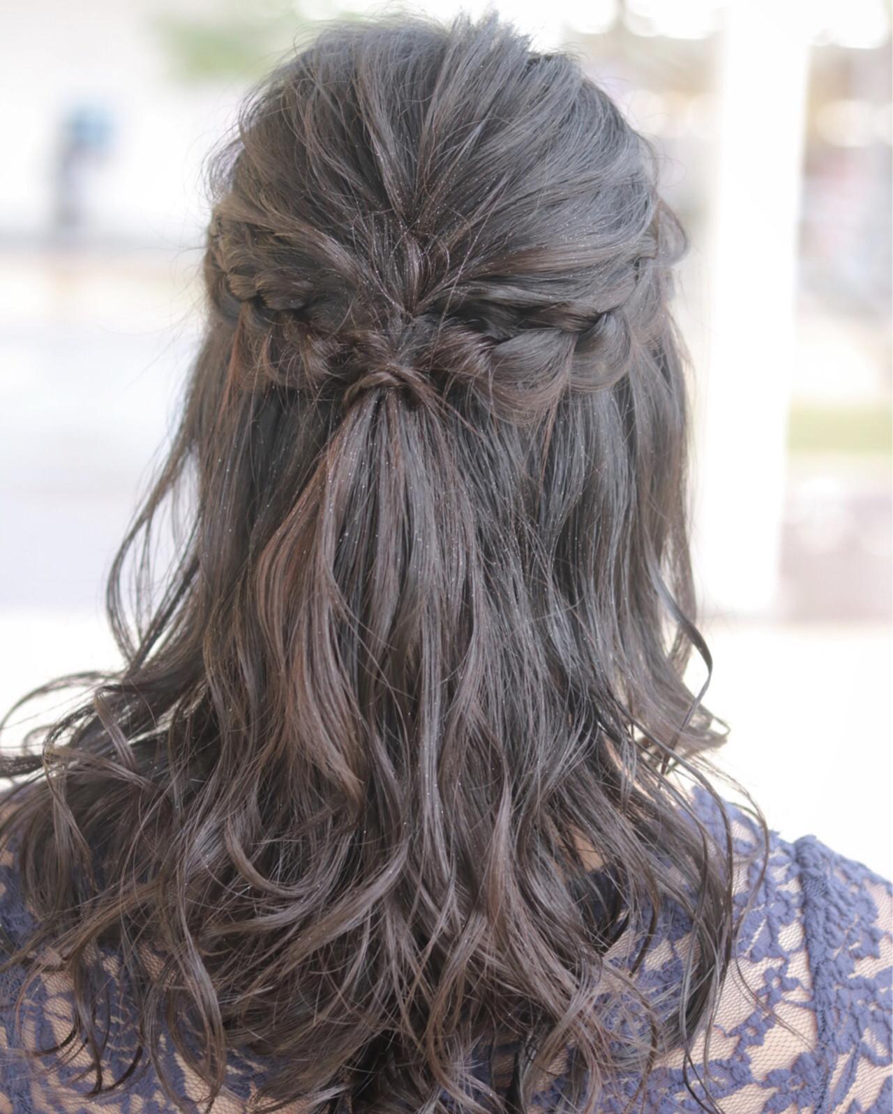 エアリー 外国人風 ハーフアップ ナチュラル ヘアスタイルや髪型の写真・画像