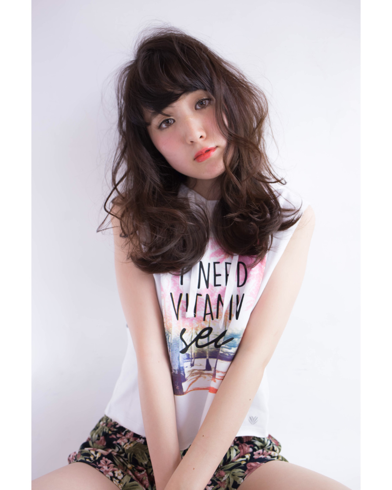 外国人風 外ハネ セミロング ナチュラル ヘアスタイルや髪型の写真・画像