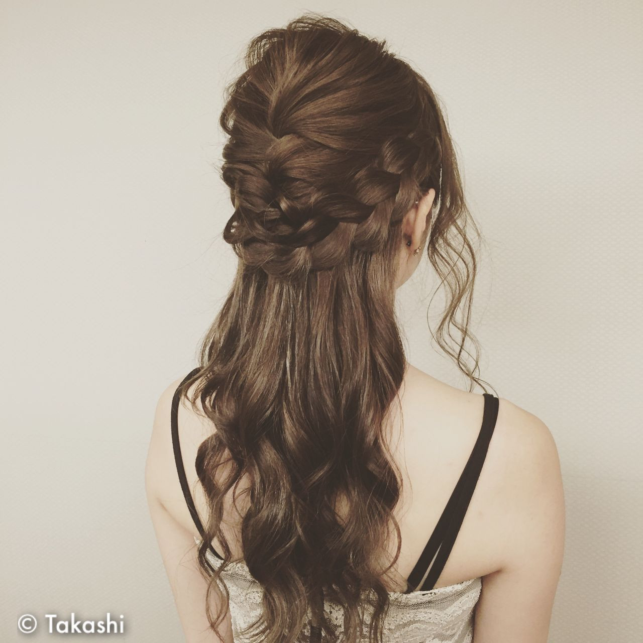 ヘアアレンジ ロング 外国人風 結婚式 ヘアスタイルや髪型の写真・画像