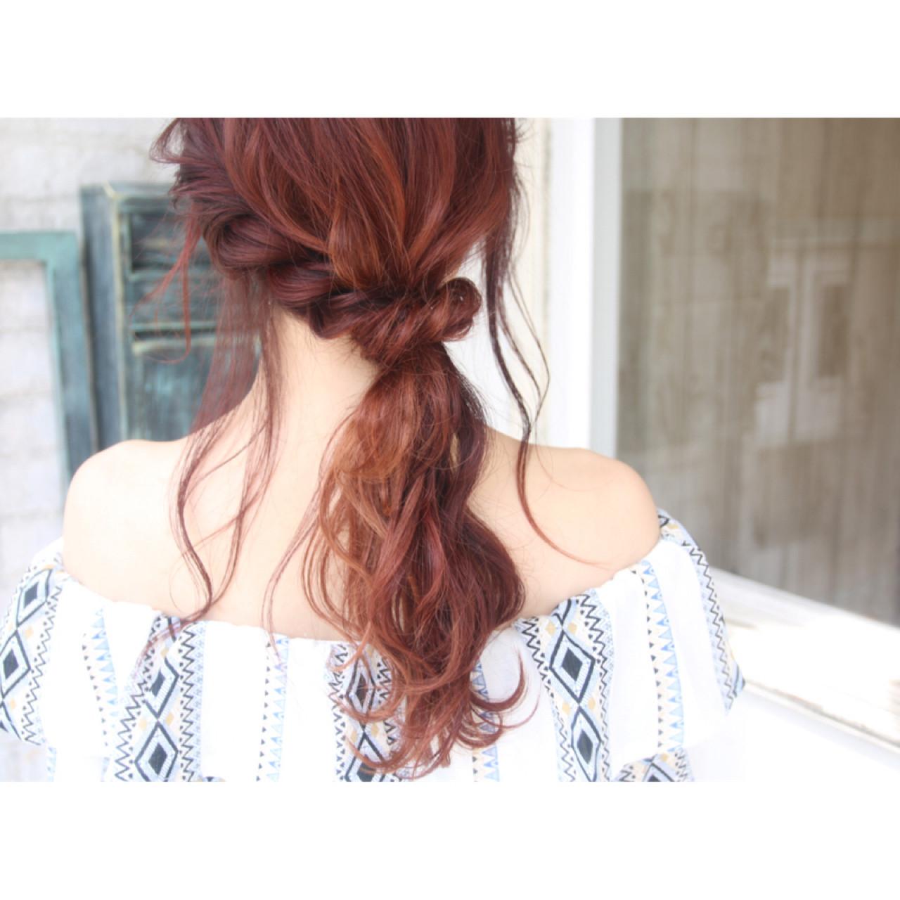 大人かわいい エレガント ポニーテール ヘアアレンジ ヘアスタイルや髪型の写真・画像