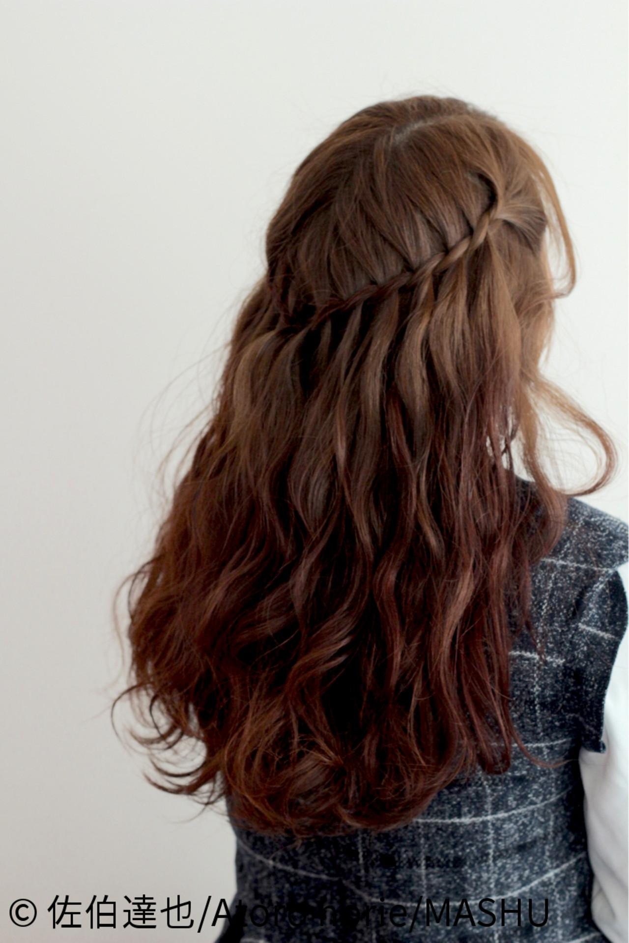 ゆるふわ ウォーターフォール ロング 外国人風 ヘアスタイルや髪型の写真・画像