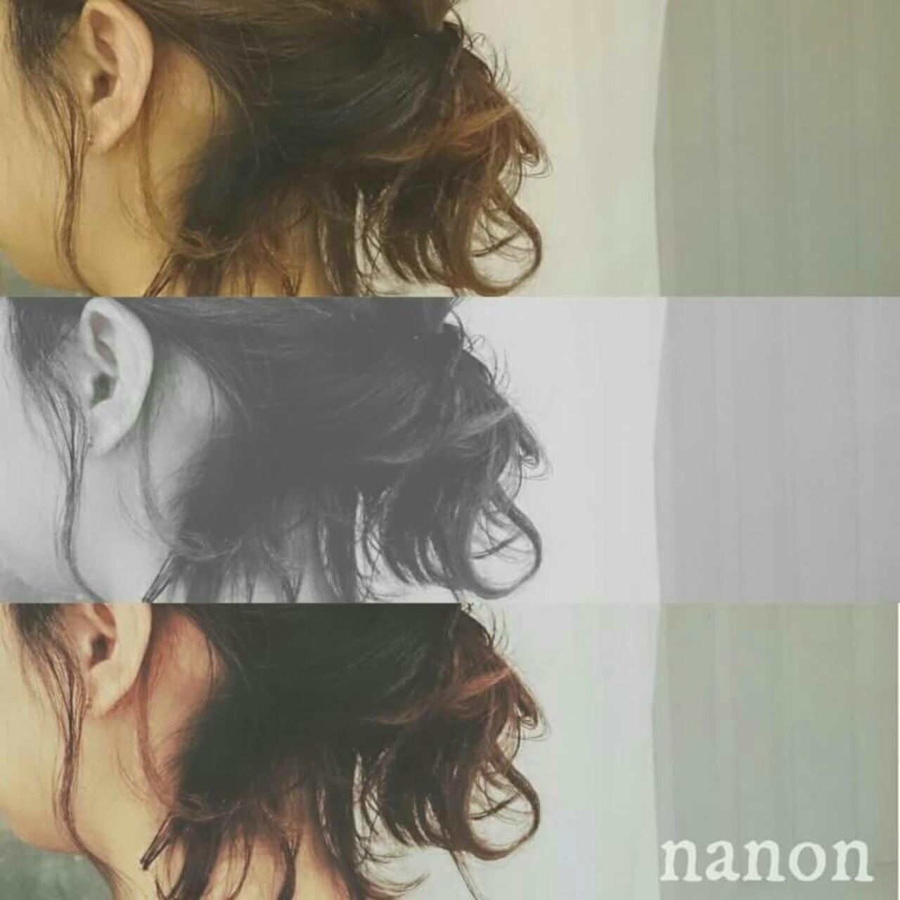 ショート ストリート ヘアアレンジ フェミニン ヘアスタイルや髪型の写真・画像