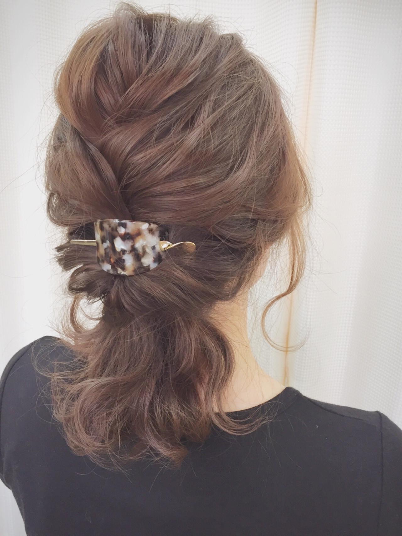 ミディアム パーティ 結婚式 ヘアアレンジ ヘアスタイルや髪型の写真・画像