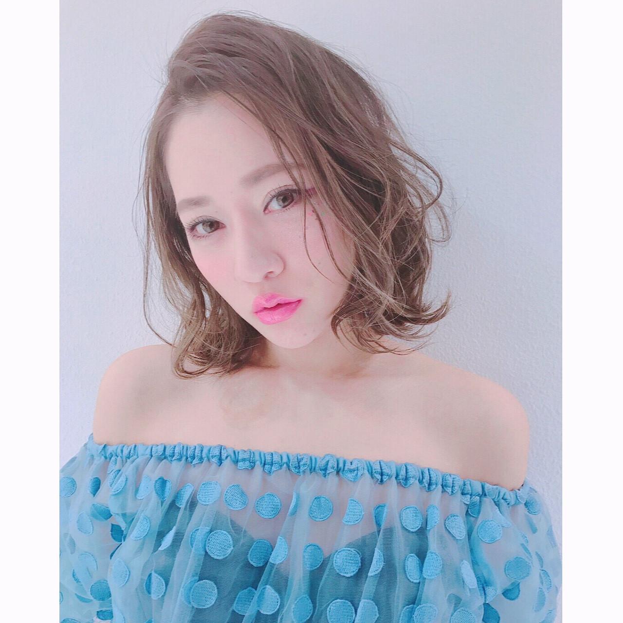 ピンク 外国人風 ローライト モテ髪 ヘアスタイルや髪型の写真・画像