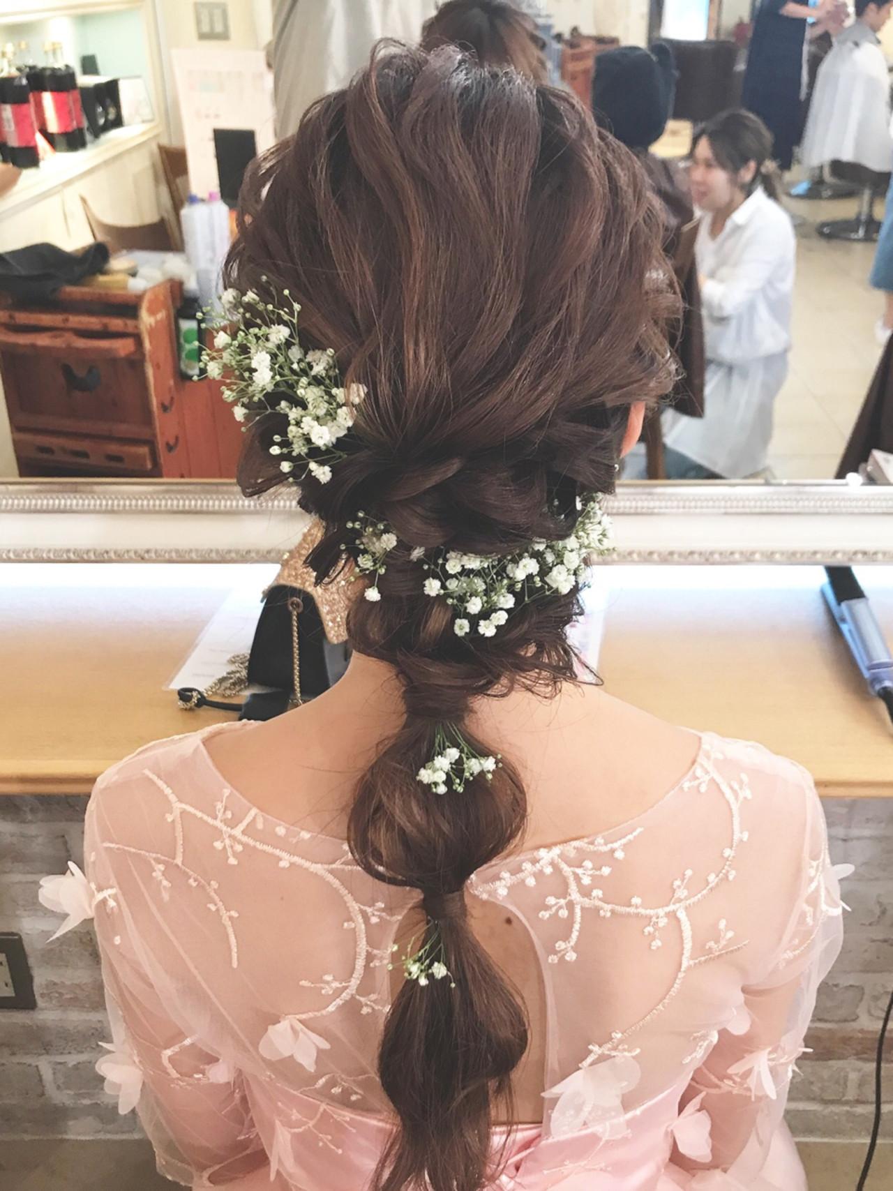フェミニン 女子会 結婚式 花火大会 ヘアスタイルや髪型の写真・画像