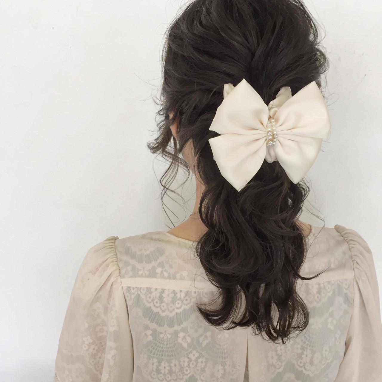 結婚式 ヘアアレンジ デート 上品 ヘアスタイルや髪型の写真・画像