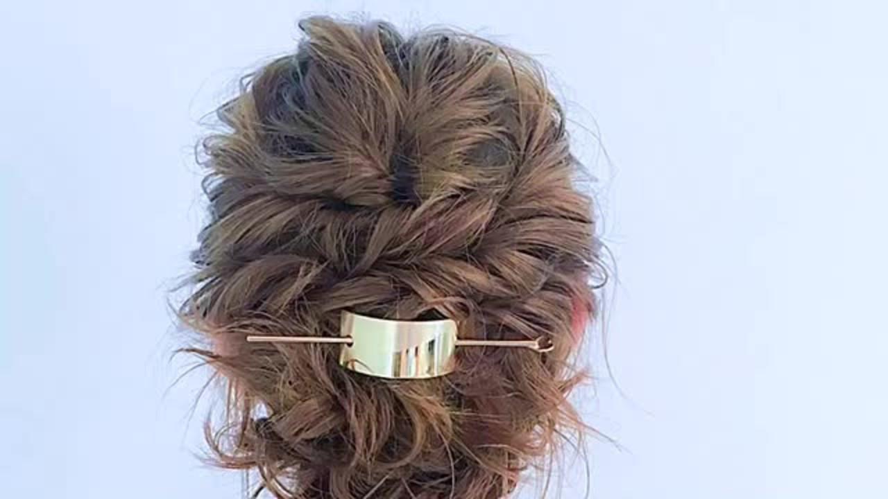 セミロング 上品 結婚式 ヘアアレンジ ヘアスタイルや髪型の写真・画像