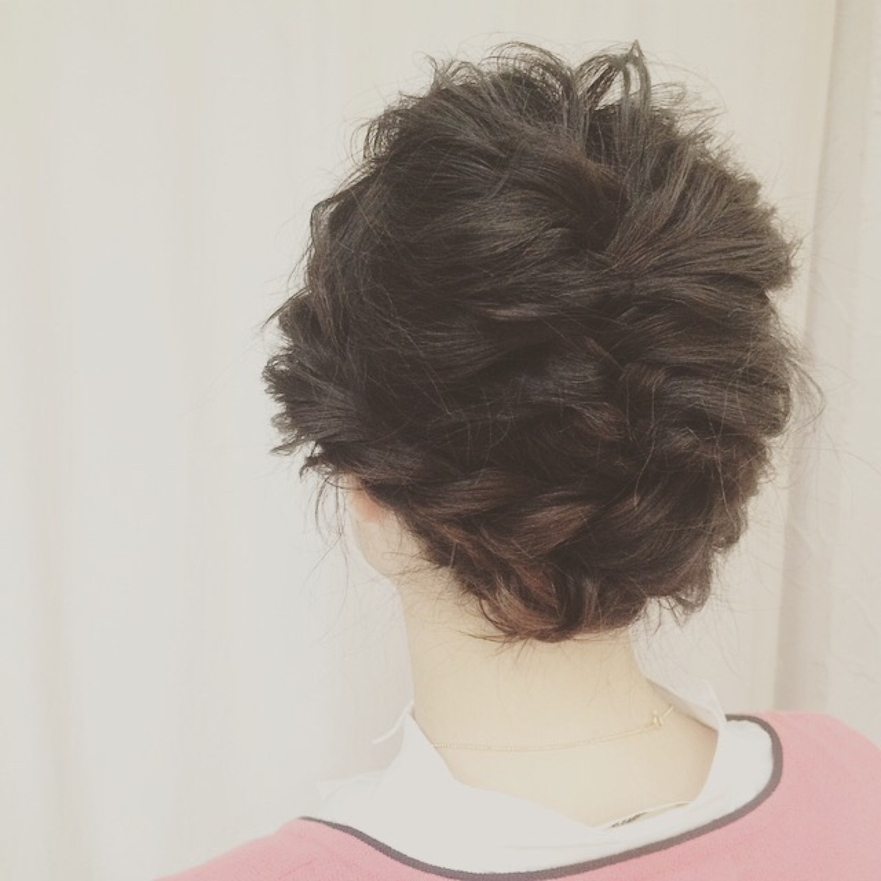 ボブ くるりんぱ グレージュ 夏 ヘアスタイルや髪型の写真・画像