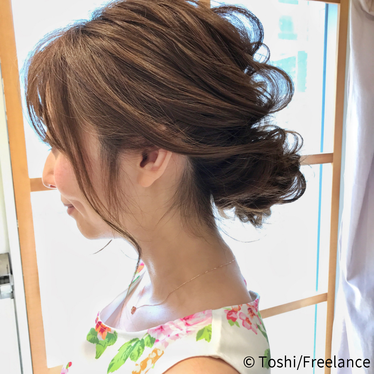 お呼ばれ エレガント 編み込み ロング ヘアスタイルや髪型の写真・画像