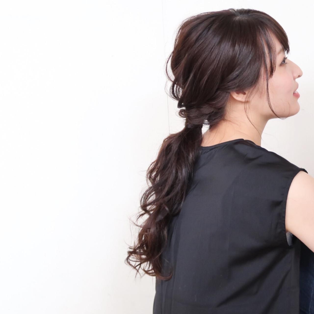ロング 結婚式 ヘアアレンジ ナチュラル ヘアスタイルや髪型の写真・画像