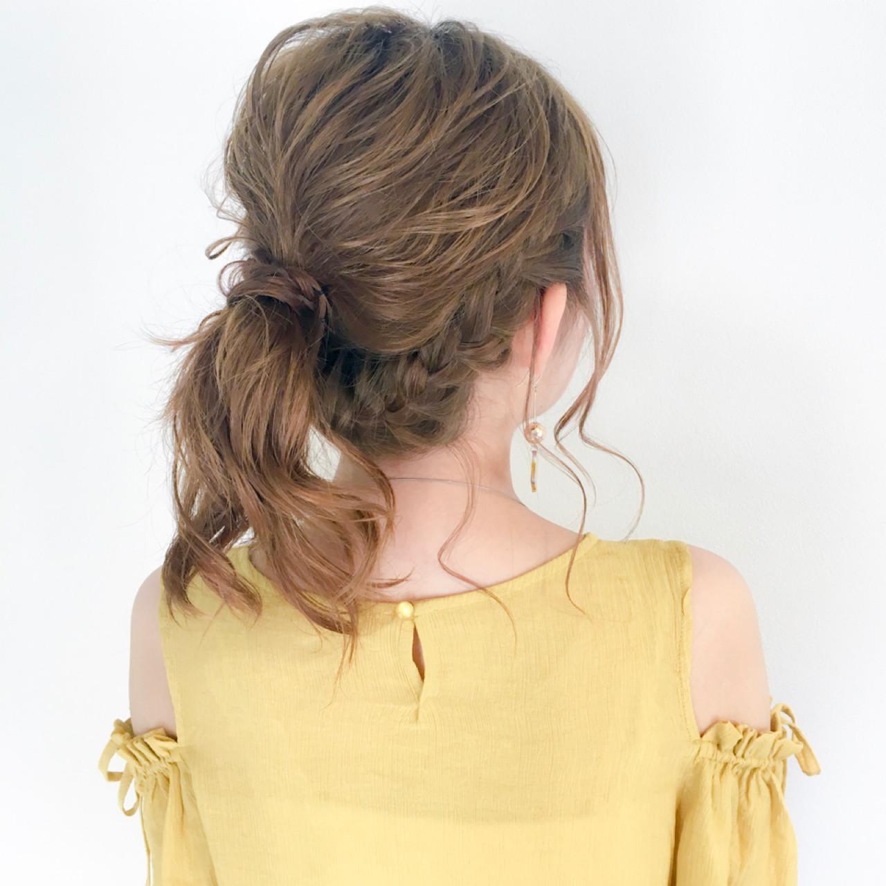 デート 結婚式 ロング フェミニン ヘアスタイルや髪型の写真・画像