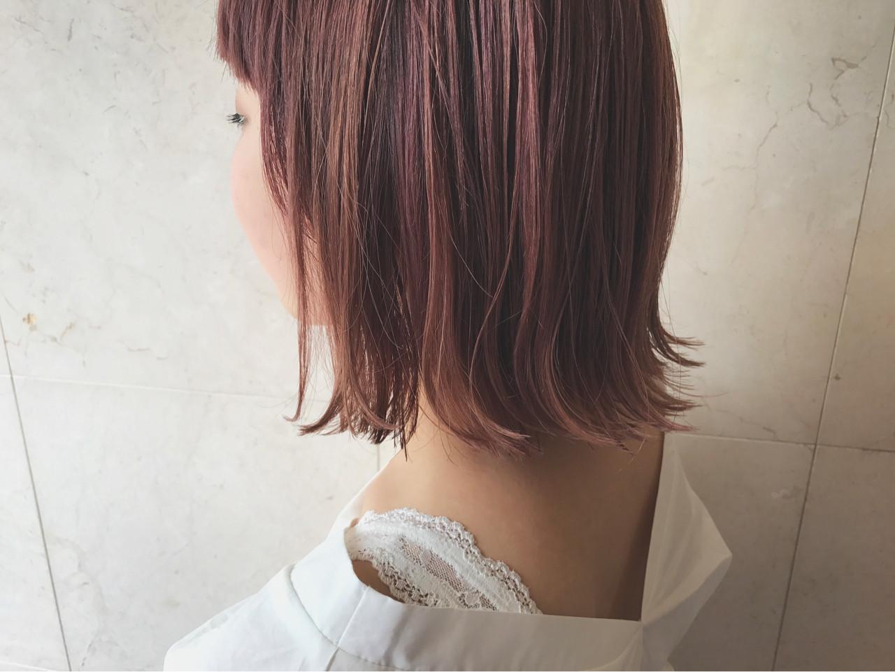 フェミニンな髪色でモテを目指す!ピンクアッシュでつくるスウィートヘア 野間祐樹