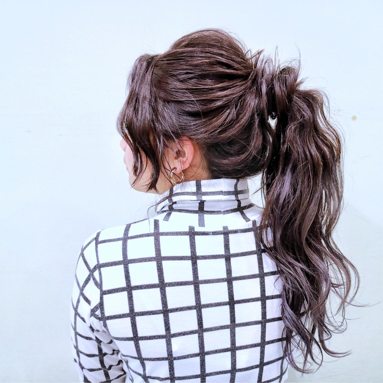 ヘアアレンジ フェミニン ロング デート ヘアスタイルや髪型の写真・画像