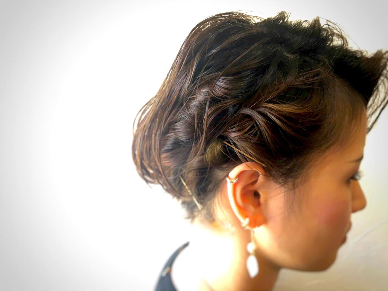 ヘアアレンジ ガーリー 編み込み フィッシュボーン ヘアスタイルや髪型の写真・画像