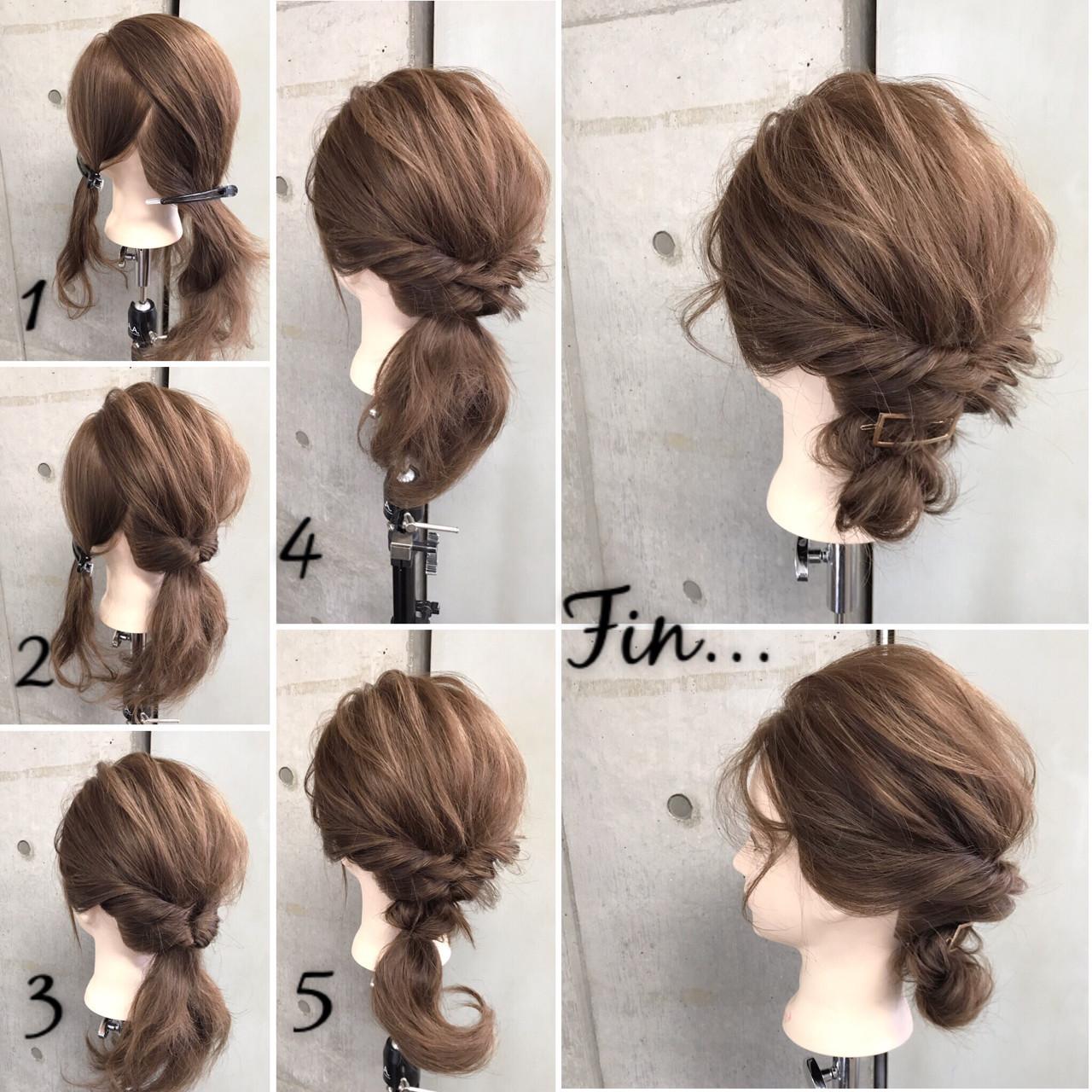 【結婚式】お呼ばれヘアアレンジ♡シンプルで上品なミディアムの髪型 東海林