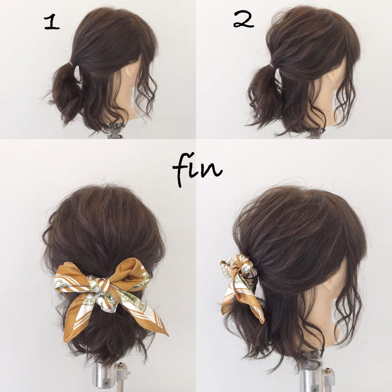 簡単ヘアアレンジ リラックス ヘアアレンジ ナチュラル ヘアスタイルや髪型の写真・画像