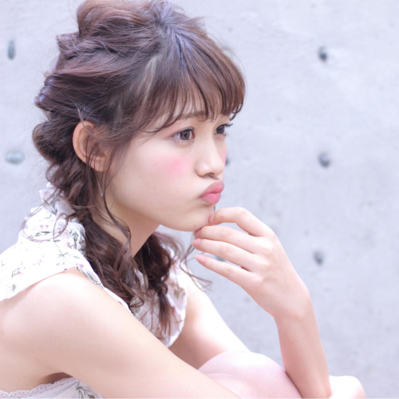 簡単なのに超かわいい♡くるりんぱを使った女子力高めな髪型アレンジ Wataru Maeda  cache cache