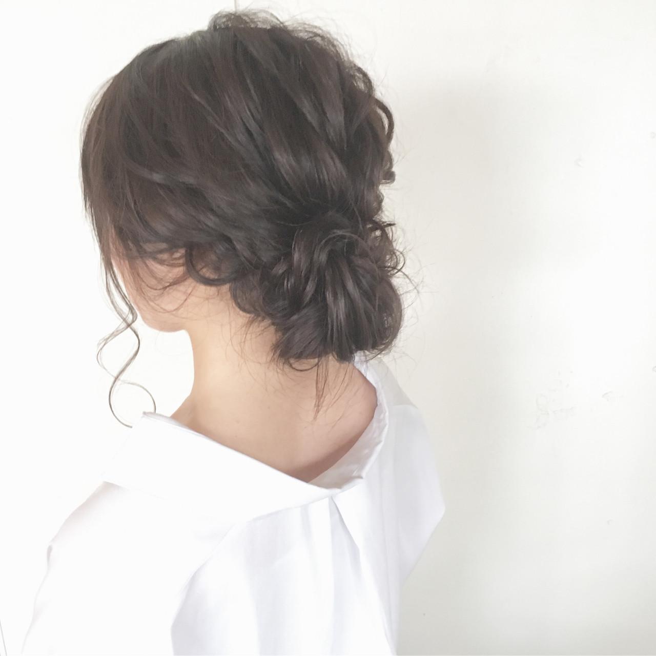 ナチュラル シニヨン 大人かわいい ヘアアレンジ ヘアスタイルや髪型の写真・画像