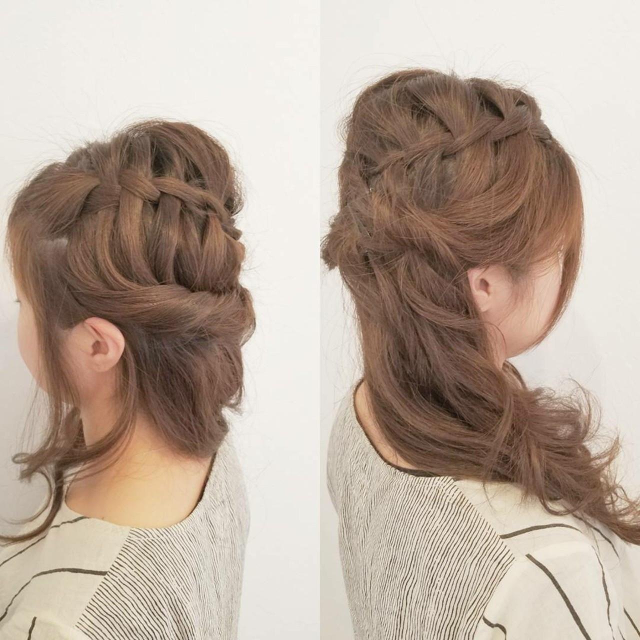 ヘアアレンジ デート ロング 女子会 ヘアスタイルや髪型の写真・画像
