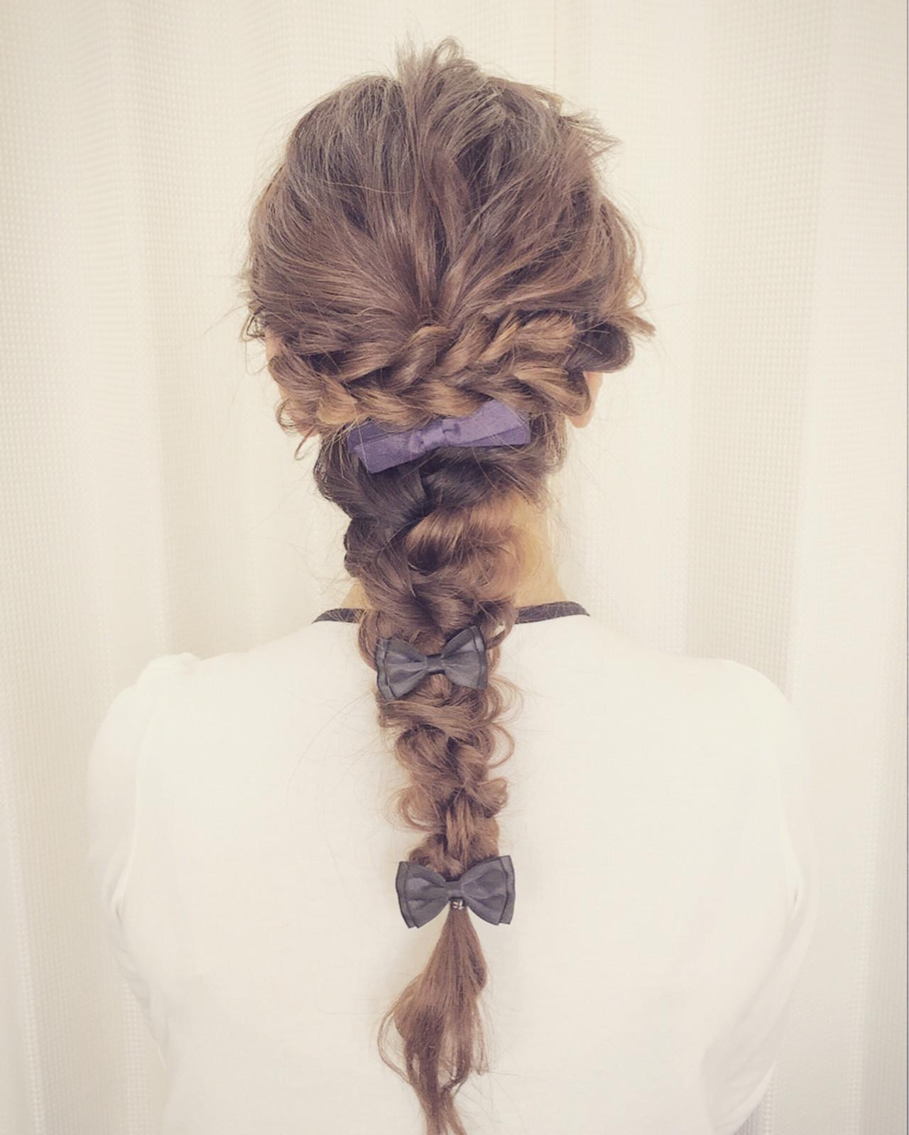 ロング ヘアアクセ パーティ 結婚式 ヘアスタイルや髪型の写真・画像