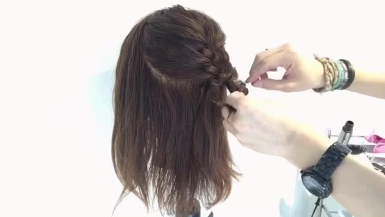 アウトドア ハーフアップ 女子会 デート ヘアスタイルや髪型の写真・画像
