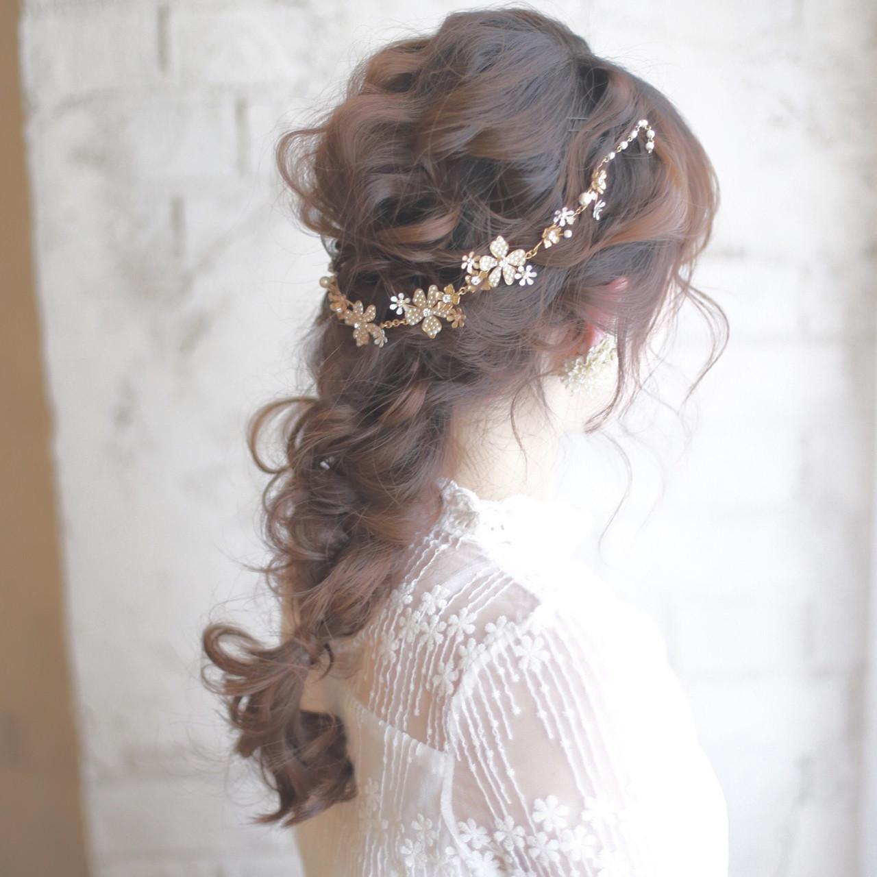 外国人風 結婚式 ロング ショート ヘアスタイルや髪型の写真・画像