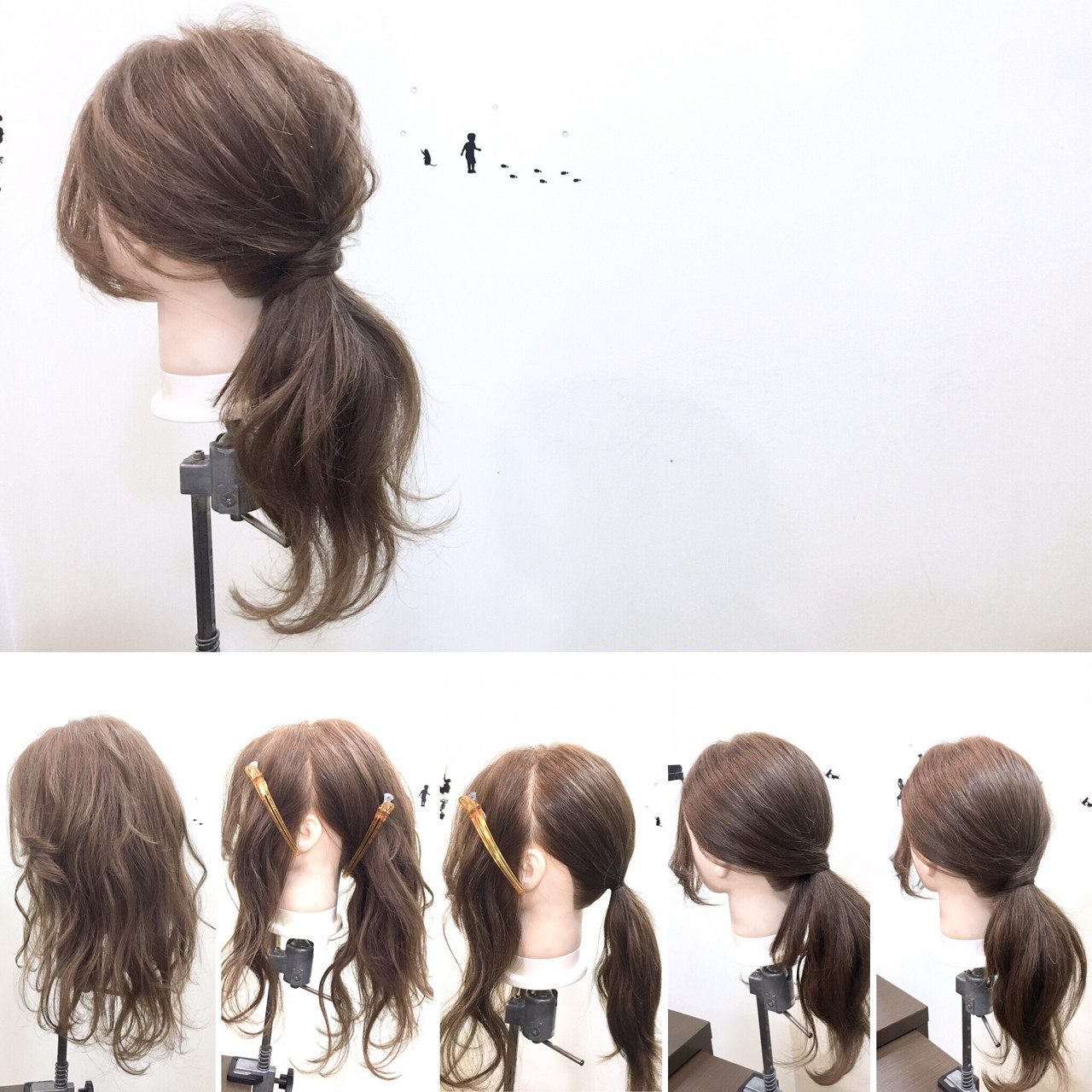 ローポニーテール ポニーテール リラックス ロング ヘアスタイルや髪型の写真・画像