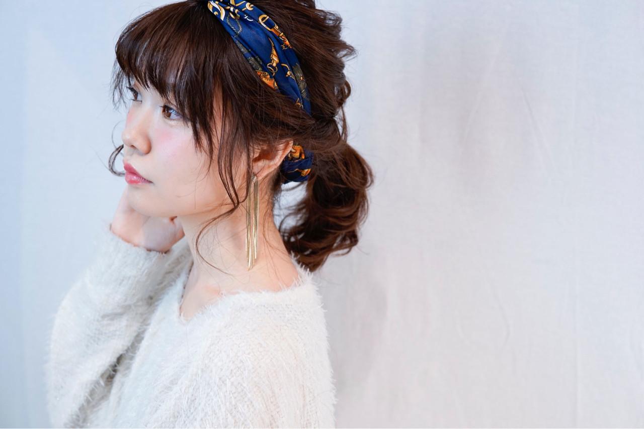 ガーリー ナチュラル ポニーテール モテ髪 ヘアスタイルや髪型の写真・画像