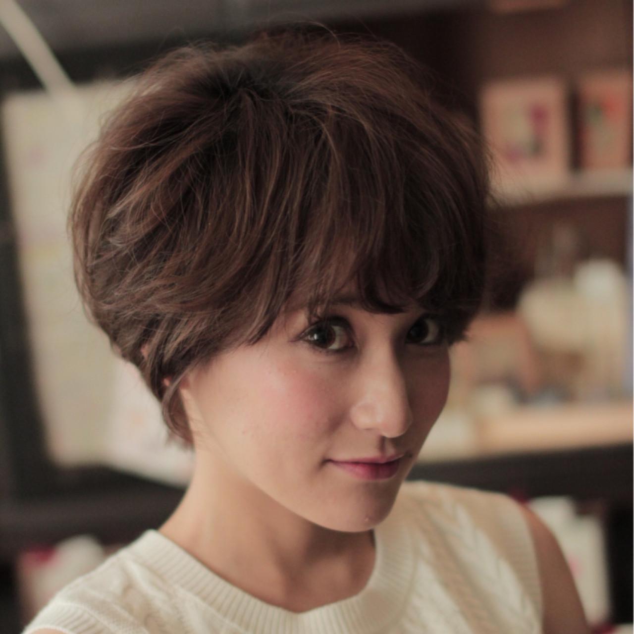ショート ニュアンス コンサバ 外国人風 ヘアスタイルや髪型の写真・画像
